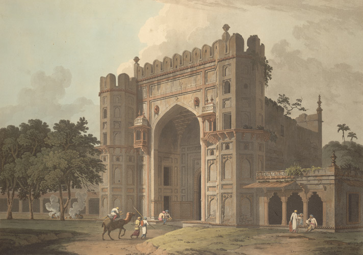 The entrance to the Mausoleums in Sultan Khusero's garden, near Allahabad